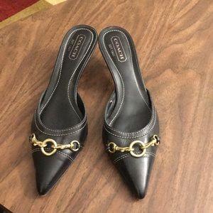 Coach Kitten Heel Mule Size 7 1/2 B